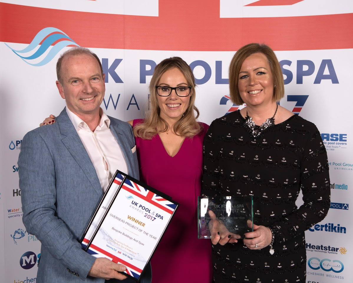 overseas project of the year won by bespoke swim spas