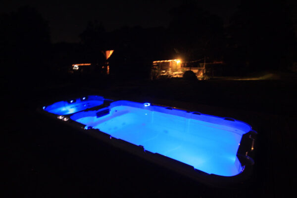 Perimeter led lights bespoke swim spas