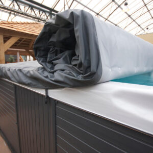 roll cover option for swim spas from Bespoke